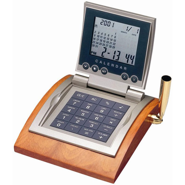 ウッドペンホルダー電卓 AQ-243TP ウッドペンホルダー電卓 AQ-243TP/40点入り(代引き不可)