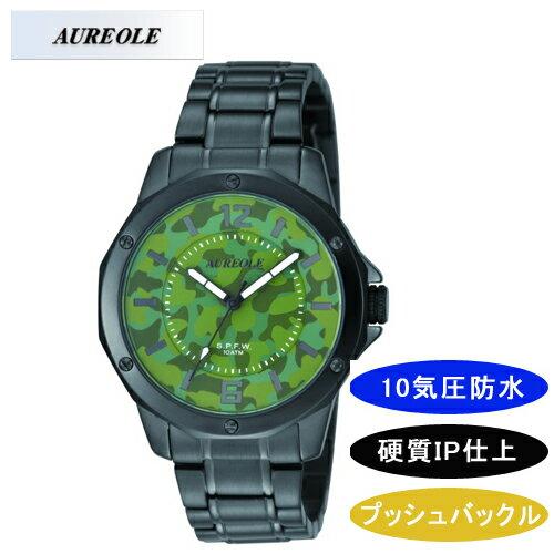 【AUREOLE】オレオール メンズ腕時計 SW-571M-56 アナログ表示 10気圧防水 /1点入り(き) 【AUREOLE オレオール】優れた機能とデザイン