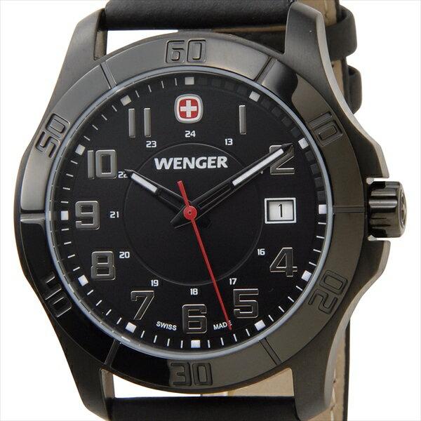 WENGER ウェンガー 腕時計 WEN70475 メンズ ALPINE ブラック 腕時計 WEN70475 メンズ ALPINE ブラック