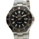 テクノス TECHNOS T2415SH ソーラーバッテリー デイト 10気圧防水 ブラック×シルバー メンズ 腕時計【送料無料】【smtb-f】