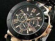 サルバトーレマーラ 腕時計 クロノグラフ メンズ SM7019PG-BKBK【楽ギフ_包装】