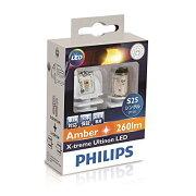 PHILIPS フィリップス エクストリーム アルティノン LED ウインカーバルブ(アンバー) / S25(PY21W) / 260lm 【12764X2】