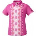 ニッタク(Nittaku) 女子用卓球ユニフォーム ダイヤシャツ NW2169 【カラー】ピンク 【サイズ】L【S1】