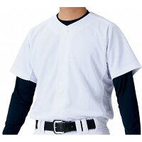 ZETT(ゼット) ユニフォーム ニットフルオープンシャツ BU1181S 【カラー】ホワイト 【サイズ】Mの画像