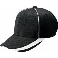ZETT(ゼット) 野球キャップ 六方 丸型キャップ BH168 【カラー】ブラック 【サイズ】XFREEの画像