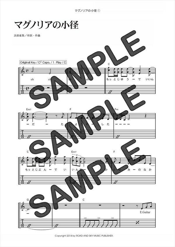 【ダウンロード楽譜】 マグノリアの小径(弾き語り)/浜田 省吾(ギター弾き語り譜譜 上級)