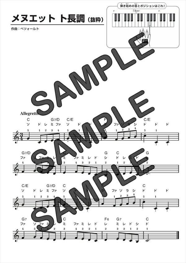 【ダウンロード楽譜】 メヌエット ト長調/Christian Petzold(メロディ譜譜 初級1)