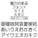 AR丸ゴシック体M (Windows版 TrueTypeフォントJIS2004字形対応版)