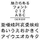 C&G半古印 MAC版TrueTypeフォント /販売元:株式会社シーアンドジイ