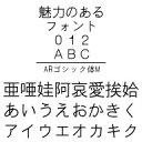ARゴシック体M (Windows版 TrueTypeフォントJIS2004字形対応版) / 販売元:株式会社シーアンドジイ