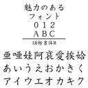 AR楷書体M (Windows版 TrueTypeフォントJIS2004字形対応版)