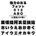 AR黒丸POP体H MAC版TrueTypeフォント /販売元:株式会社シーアンドジイ