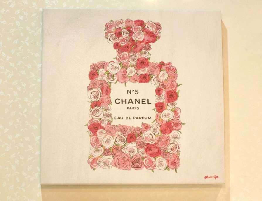 17122 Number 5 Rose【Olivergal オリバーガル】壁掛け絵 絵画 アート