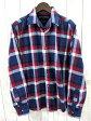 【TOMMY HILFIGER/トミーヒルフィガー】 Vintage Fit 長袖チェックシャツ ネイビー L ○Y78 メンズ 【ベクトル 古着】【中古】 150314