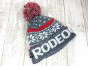 ロデオクラウンズ Rodeo Crowns ニット帽 キャップ ボンボン ロゴ 雪柄 FREE グレー レディース 【ベクトル 古着】【中古】 160919