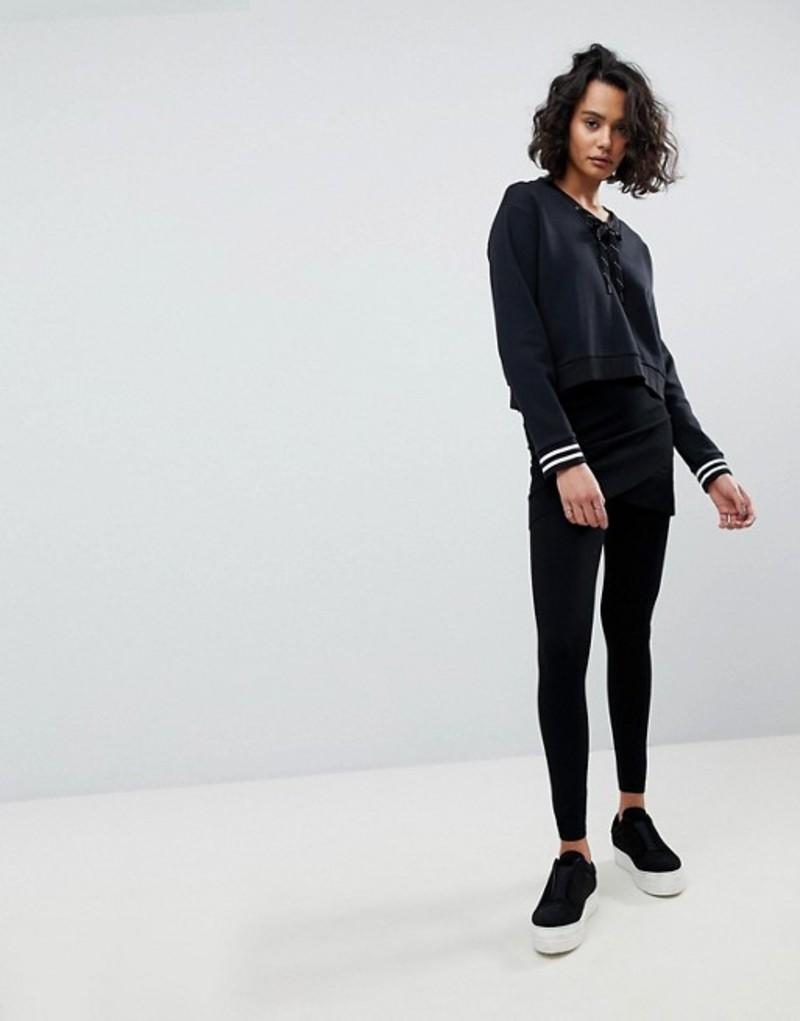 オールセインツ レディース レギンス ボトムス AllSaints Heavy Knit Wrap Legging Black