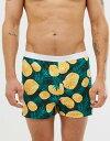 еиеде╜е╣ есеєе║ е╚ещеєепе╣ евеєе└б╝ежезев ASOS DESIGN jersey boxers with pineapple print Orange