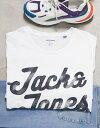 ショッピングUSB ジャック アンド ジョーンズ メンズ シャツ トップス Jack & Jones Originals Plus big logo t-shirt White