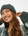 ショッピングヘアアクセ エイソス レディース ヘアアクセサリー アクセサリー ASOS DESIGN fluffy headband in charcoal Charcoal