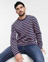 ショッピングラーメン ファーラー メンズ シャツ トップス Farah Barrio striped long sleeve top Blue