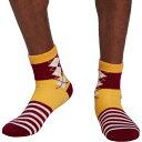 ショッピングアーガイル ノースイースト メンズ 靴下 アンダーウェア Northeast Outfitters Team Argyle Cozy Cabin Crew Socks Maroon/Yellow