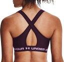アンダーアーマー レディース ブラジャー アンダーウェア Under Armour Women 039 s Crossback 2.0 Medium Support Sports Bra Polaris Purple
