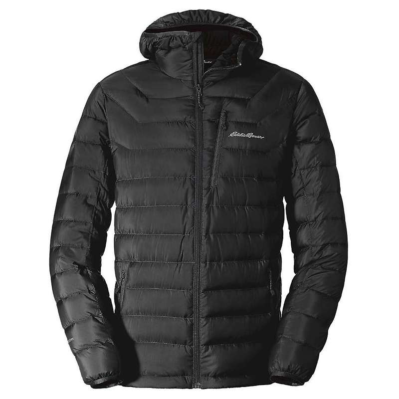 エディー バウアー メンズ ジャケット・ブルゾン アウター Eddie Bauer First Ascent Men's Downlight Stormdown Hooded Jacket Black