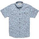 ショッピングSH- ハウラーブラザーズ メンズ シャツ トップス Howler Brothers Men's Mansfield Shirt Washout Print Blue Light