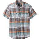 ショッピングケイマン プラーナ メンズ シャツ トップス Prana Men's Cayman Plaid SS Shirt Starling Green