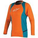 アルパインスターズ レディース シャツ トップス Alpine Stars Women's Stella Drop 2 LS Jersey Bright Orange / Ocean