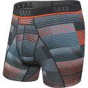 ショッピングボクサーパンツ サックスアンダーウェアー メンズ ボクサーパンツ アンダーウェア SAXX Men's Kinetic HD Boxer Brief Black Sonic Stripe