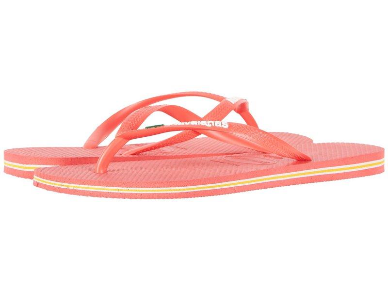 ハワイアナス レディース サンダル シューズ Slim Brazil Flip-Flops Coral