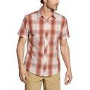 ショッピングアーメン エディー バウアー メンズ シャツ トップス Greenpoint Short Sleeve Shirt Mineral Red