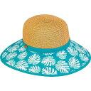 サンアンドサンド メンズ 帽子 アクセサリー Tan Paperbraid with Printed Brim Hat One Size - Tan