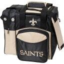 ショッピングシングル ケーアールストライクフォースボーリング メンズ ボストンバッグ バッグ NFL Single Bowling Ball Tote Bag New Orleans Saints