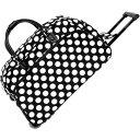 ショッピングキャリーバッグ ワールドトラベラー メンズ スーツケース バッグ Dots II 21 Rolling Duffel Bag Black White Dot II