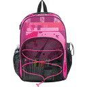 イーストポート メンズ バックパック・リュックサック バッグ Mesh Bungee Backpack Black/Pink Blocked