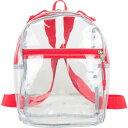 イーストポート メンズ バックパック・リュックサック バッグ Clear Mini Backpack Clear/Red Trim