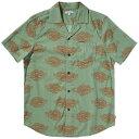 ショッピングショート バンクス メンズ シャツ トップス Banks Scales Short-Sleeve Shirt Basil