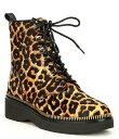 ショッピングシューズ マイケルコース レディース ブーツ・レインブーツ シューズ Haskell Cheetah Print Haircalf Hiker Booties Butterscotch