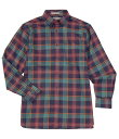 ショッピングAll ダニエル クレミュ メンズ シャツ トップス Daniel Cremieux Signature Big & Tall Heather Medium Plaid Long-Sleeve Woven Shirt Dark Navy