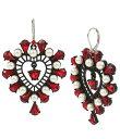 ベッツィジョンソン レディース ピアス・イヤリング アクセサリー Openwork Heart Drop Earrings Red