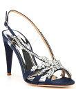 バッジェリーミシュカ レディース サンダル シューズ Jaqueline Satin Embellished Dress Sandals Midnight