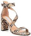 ショッピングブロック チェルシーアンドバイオレット レディース サンダル シューズ Brea Snake Leather Block Heel Strappy Block Heel Sandals Natural/Multi