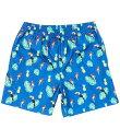 カリビアン メンズ ハーフパンツ・ショーツ 水着 Mini Parrot Print 6#double; Inseam Swim Trunks Blue Multi