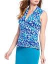 ショッピングPC カルバンクライン レディース Tシャツ トップス Floral Print Matte Jersey V-Neck Sleeveless Top Capri Multi