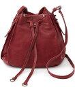ホボ レディース ショルダーバッグ バッグ Cinder Leather Crossbody Bucket Bag Red