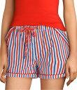サイコバニー レディース ハーフパンツ・ショーツ ボトムス Striped-Print Woven Sleep Shorts Newport Stripe