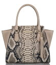 ブランミン レディース ハンドバッグ バッグ Ballington Collection Mini Priscilla Snake Print Satchel Latte