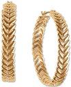 ラッキーブランド レディース ピアス・イヤリング アクセサリー Gold-Tone Braided Medium Hoop Earrings 1.38 Gold